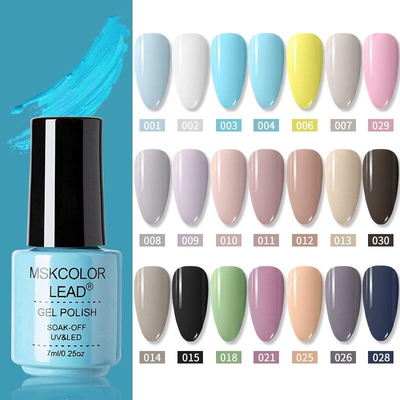 MSK цветной свинцовый Гель лак для ногтей 7 мл высококачественный Гель лак для Ногтей Красочная стеклянная бутылка яркий цвет Блестящий лак для ногтей Гель для ногтей    АлиЭкспресс - Для красоты и здоровья