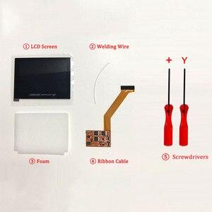 Image 2 - Ips V2 Lcd Kit con Il Caso di Shell per Gba Sp Ips Retroilluminazione Dello Schermo Lcd con Pre Cut di Shell per gbasp Console Custodia con Pulsanti