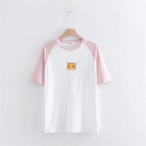 2018 nueva moda original Printesd divertida camiseta mujer suelta verano Top camiseta