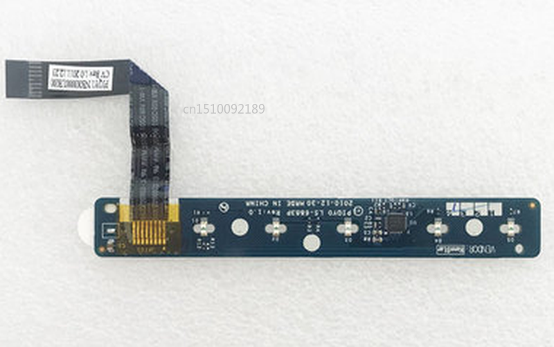 Free Shipping For Lenovo IdeaPad Y470 Y570 Volume Switch Button PCB Board With Flex Cable PIQY0 LS-6883P