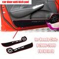 Полиэстер накладка наклейка ковер для Honda Civic 8 2006-2009 FB FK FA FD резиновый уплотнитель двери автомобиля против пэд стикеры защитный коврик аксес...