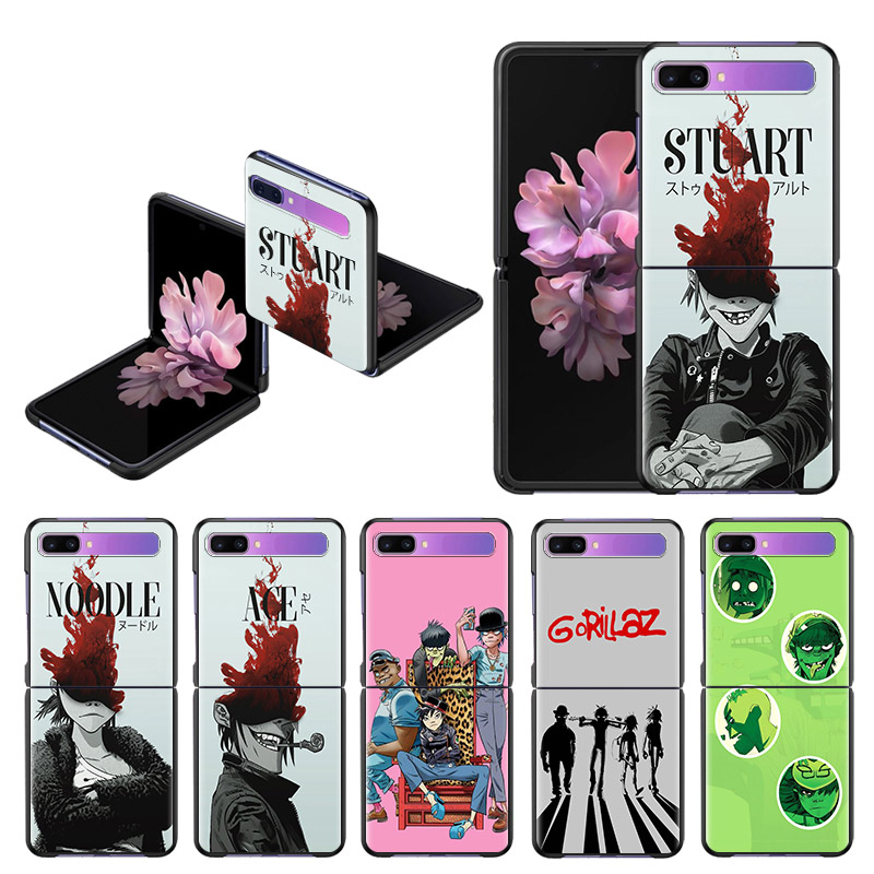 Anime Gorillaz PC Case For Samsung Galaxy Z Flip 5G Black Hard Plastic Phone Coque Folding And Splitting Shell