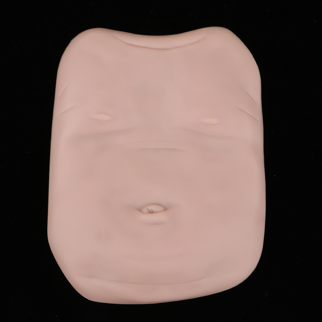Real Touch VInyl Reborn Unisex Belly Plate for 18-22inch Baby Doll Unpainted