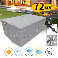 General Size Furniture Dustproof Cover For Rattan Table Chair Sofa Waterproof Rain Oxford Cloth Garden Patio Protective Cover