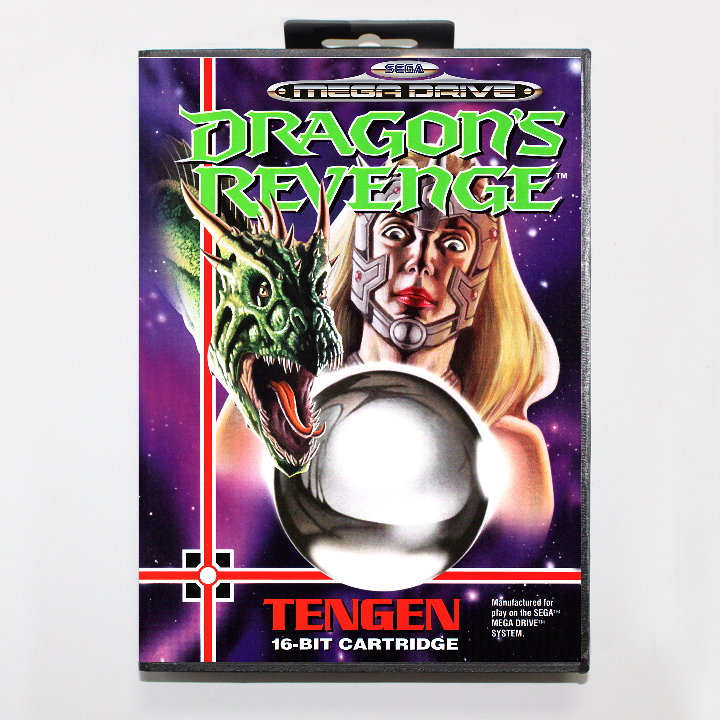 Dragon's Revenge with Retail Box 16bit MD Game Card For Sega Mega Drive/ Genesis 1