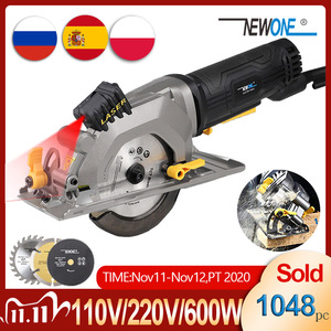 Image 1 - NEWONE Electric Mini Circular Saw With Laser For Cut Wood,PVC tube,15pcs Discs, 230V Multifunctional Electric Saw DIY Power Tool