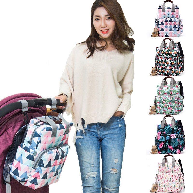 Large Capacity Mummy Maternity Nappy Bag Outdoor Mom Backpack Nursing Diaper Bag Mummy Bag Travel Backpack Zippers Baby Care Bag