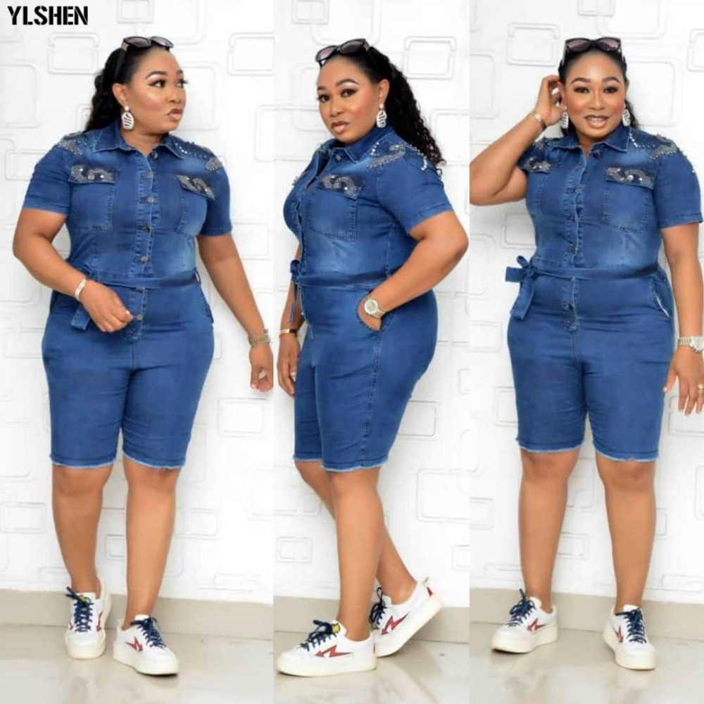African Dresses For Women Denim Jumpsuit African Clothes Africa Dress Dashiki Ankara Style Mom Jeans Plus Size Africa Clothing 01
