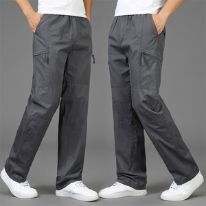 Image 2 - 2020 Autumn Fashion Men Pants Casual Cotton Long Pants Straight Joggers Homme Big Size 5XL Comfortable Loose Trousers for Men