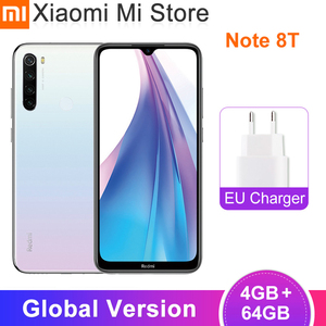 Global Version Xiaomi Redmi Note 8T 4GB RAM 64GB ROM NFC Mobile Phone 18W Fast Charger Snapdragon 665 Octa Core 4000mAh(China)