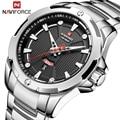 NAVIFROCE новые роскошные Брендовые мужские часы полностью стальные деловые наручные часы водонепроницаемые кварцевые мужские часы Relogio Masculino