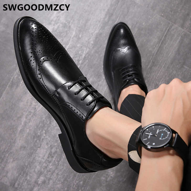 מבטא אירי נעלי גברים פורמליות שמלת ערב חברה לגברים מספרת חתונה שמלת איטלקי מותג אלגנטי נעלי גברים buty