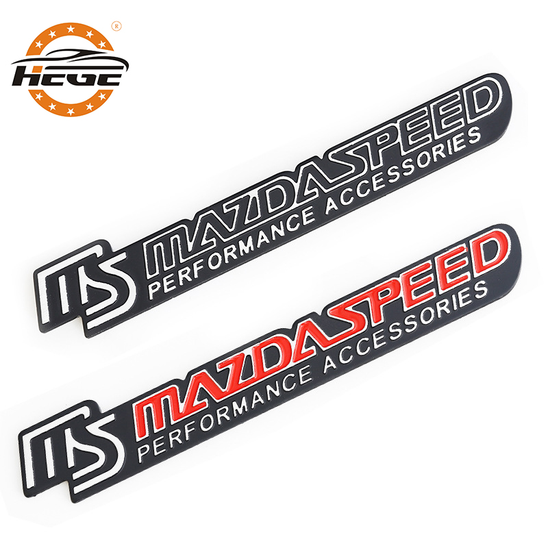 Car accessories 3D metal Emblem Badge sticker for Mazda 3 6 MS Mazdaspeed Logo Car rear Trunk body Modified Styling stickers