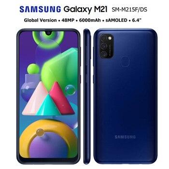 Перейти на Алиэкспресс и купить Смартфон Samsung Galaxy M21 M215F/DS, глобальная версия, 4G, мобильный телефон, 4 ГБ, 64 ГБ, Восьмиядерный процессор, 6,4 дюйма, 1080x2340, 6000 мАч, 48 МП, NFC, Android 10