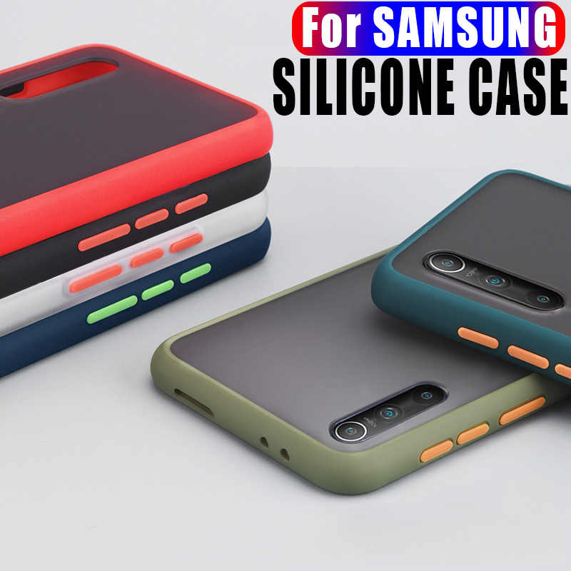 بسيط الهاتف حالة لسامسونج غالاكسي ملاحظة 8 9 10 20 S8 S9 S10 زائد S20 A51 A71 A7 A9 A10S A30 A40 A50 A70 سيليكون حالة غطاء