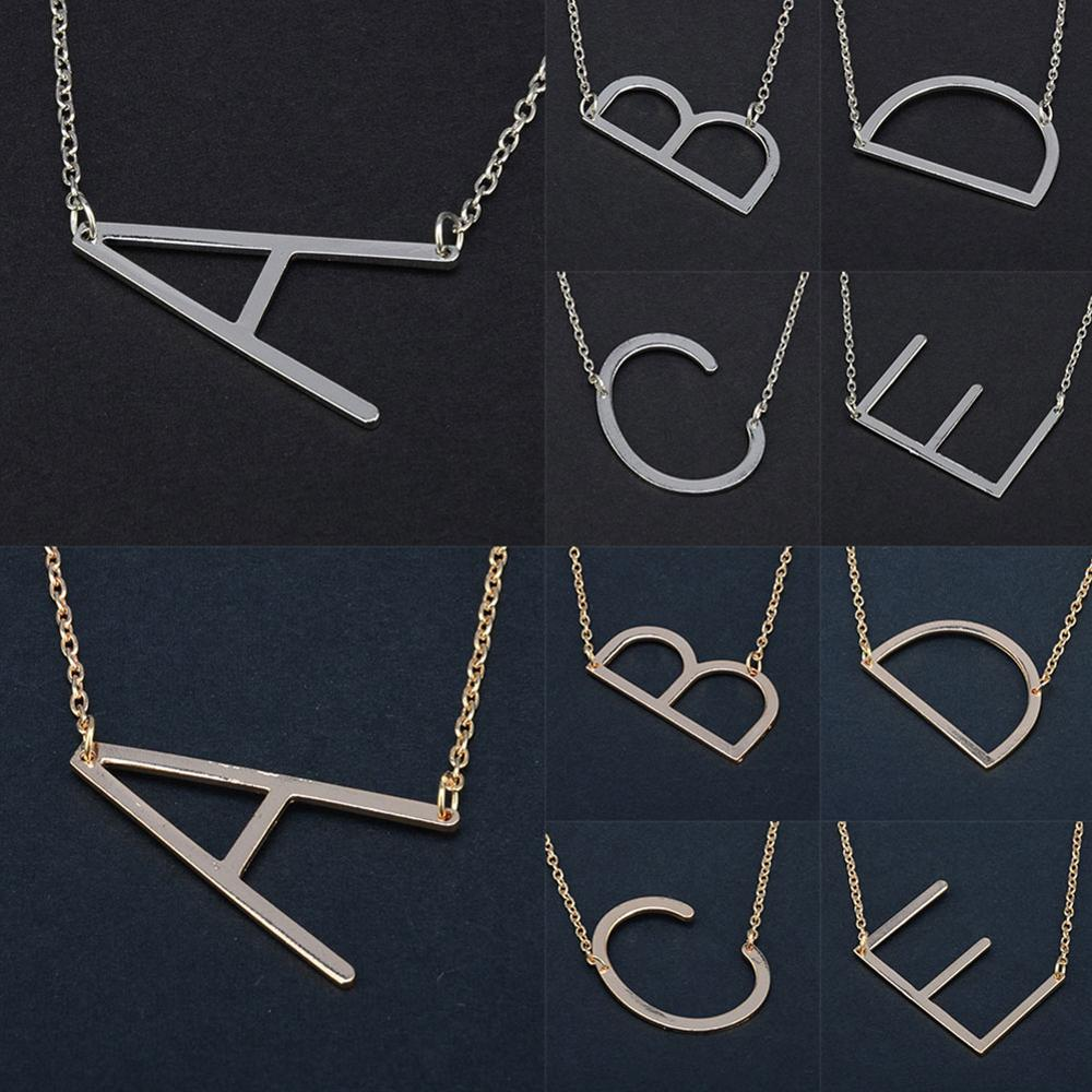 UMODE Letter Necklaces Gold Chain Fashion Jewelry Bohemian-Alloy Women Vintage Wholesale