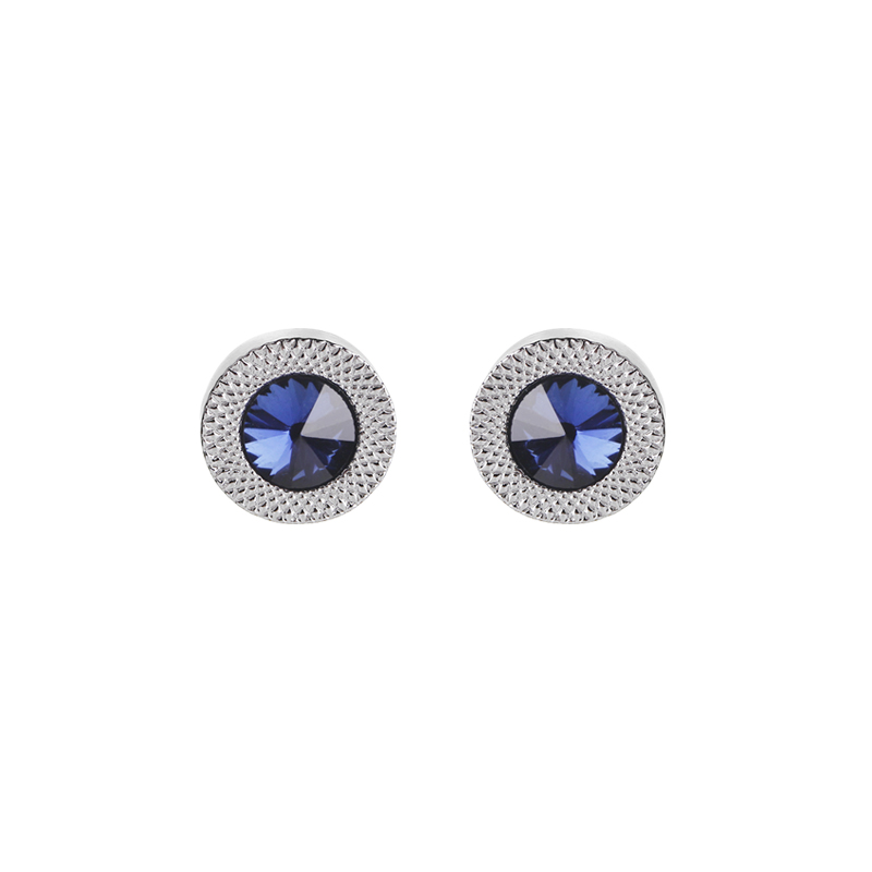Personality Fashion Men's And Women's Blue Zircon Cufflinks Shirts Gifts Tuxedo Business High Quality Jewelry Wedding Party Gift