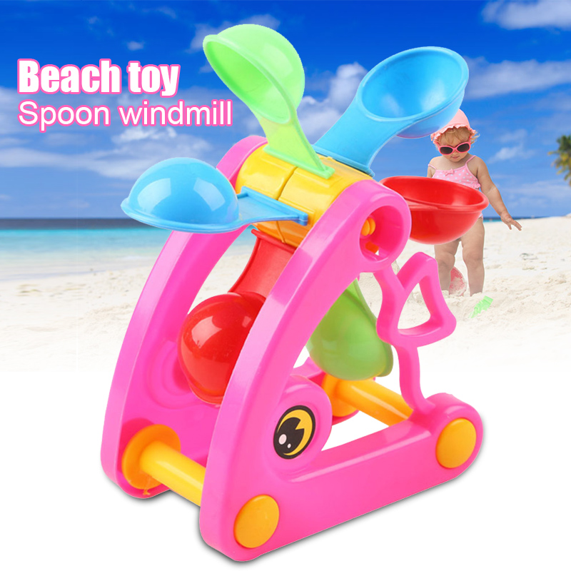 Children Beach Windmill Waterwheel Toys Summer Play Sand Water Swimming Pool Bathing Beach Party Toy NSV775
