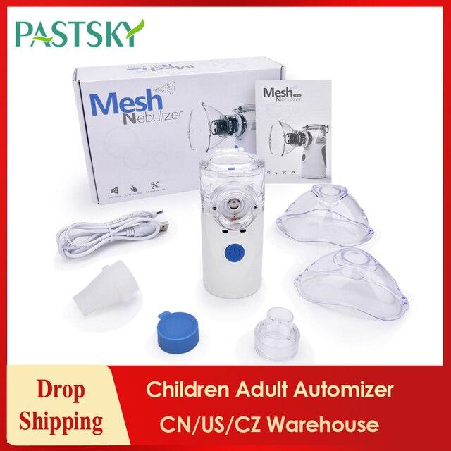 Mini nebulizador de inhalación portátil de mano para el cuidado de la salud, inhalador ultrasónico silencioso con USB, automático médico para niños y adultosAparatos de cocción al vapor