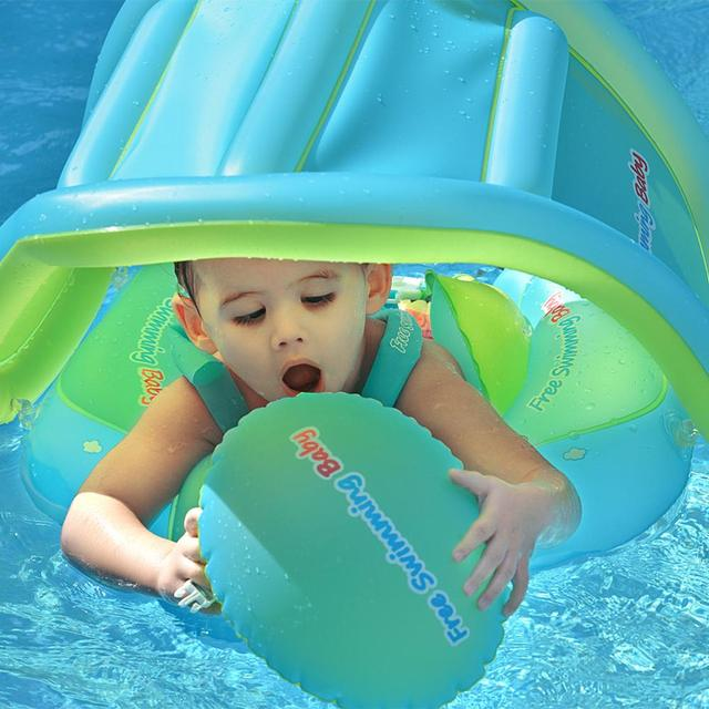 Baby Swimming Ring Inflatable Infant Floating Kids Float Swim Pool Accessories Circle Bath Inflatable Ring Toy For Dropship 3