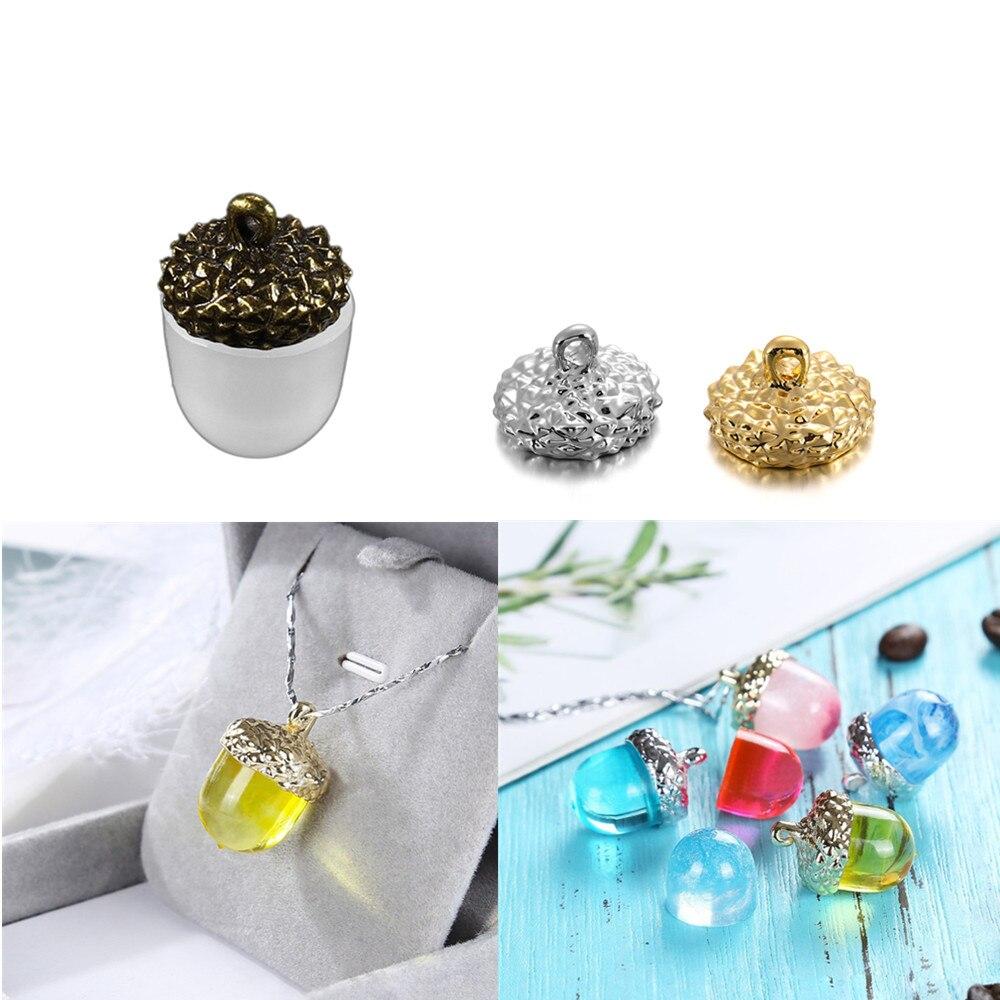 Купить 1 комплект желудь тип смолы силиконовые формы ожерелье крышка