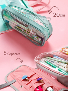 Image 5 - Multi Function Waterproof Large Capacity Pen Bag Pencil Case Schoolgirl High Capacity Stationery Case Originality Girl
