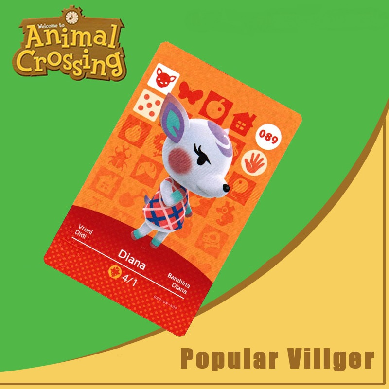 089 Animal Crossing Amiibo Card Diana Amiibo Card Animal Crossing Series 1 Diana Nfc Card Work For Ns Games Dropshipping
