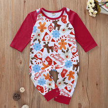2019 Christmas Santa Cartoon Print Romper Fashion Newborn Cute Unisex Baby Clothes Rompers Infant Baby Girl Boy Jumpsuit roupas(China)