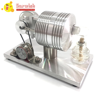 Launchable All Metal Stirling Micro External Combustion Engine Model Toy