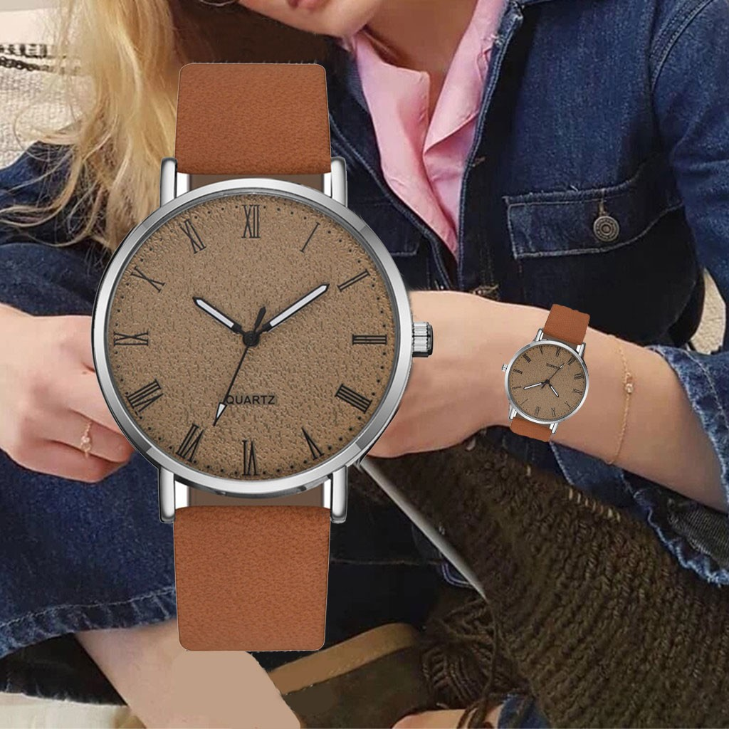 Simple Ladies Casual Belt Watch Silver Case Scale Quartz Belt Watch Femalewrist Women Watch Clock Wristwatch