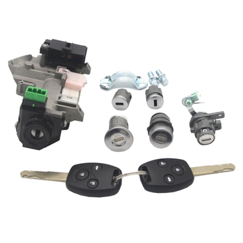 for Honda Accord 06-07 Complete Set Ignition Switch Cylinder Door Lock with 2 Keys 8E Chips