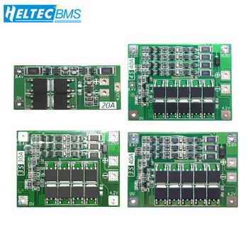 2S/3S/4S 20A 30A 40A 60A BMS With Balance 18650 BMS Lifepo4 Lithium battery protection board/BMS board For Drill Motor image