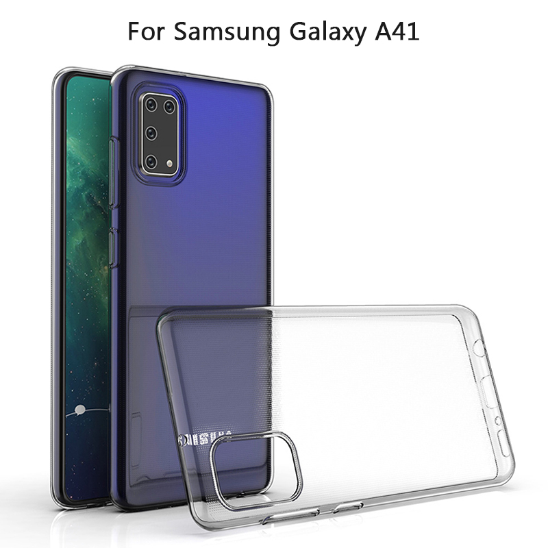 For Samsung Galaxy A41 A01 A51 A71 5G A31 Slim Crystal Clear Transparent Soft TPU Back Case Protection Skin Camera Protect Cover