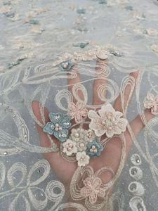 Image 3 - 멋지게 무거운 손으로 수 놓은 페르시 패브릭 프랑스 레이스 아프리카 레이스 나이지리아 레이스 DIY 의류 패브릭 드레스 웨딩에 적합