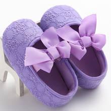 Для новорожденных для маленьких девочек мягкая подошва; 1 пара;