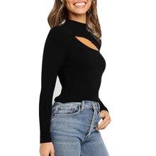 Модная женская одежда, тонкая, без бретелек, с длинным рукавом, Повседневная блузка, топы, рубашка, оболочка, европейский стиль, повседневные сексуальные топы 829