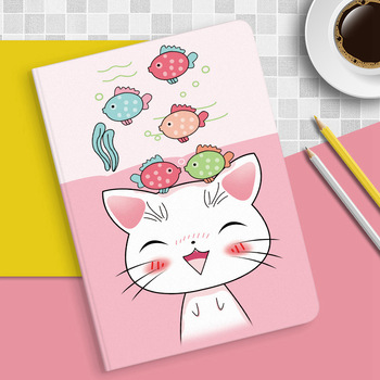 For iPad Mini 3 2 1 Case Cartoon Cute cat PU Silicone Soft Back Tablet Cover For Apple iPad Mini 1 2 3 Flip smart stand Case for ipad 10 2 case cartoon people pu silicone soft back tablet cover for ipad mini 3 4 5 air 1 2 pro 10 5 flip smart stand case