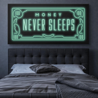 1 Piece Canvas Prints Poster Wall Pictures MONEY NEVER SLEEPS Canvas Art Paintings Posters