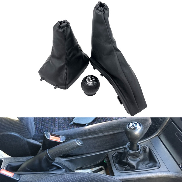 Car Styling Gear Shift Knob Parking Handbrake Gaiter Boot Cover Case Collar for Vauxhall Opel Astra II G Zafira A 1998-2010