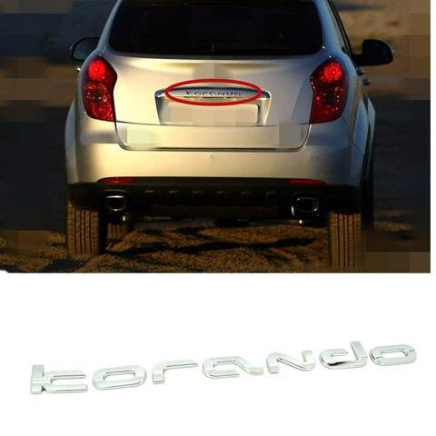 genuino tronco traseiro bagageira logotipo emblema para ssangyong novo actyon korando c 2010 tronco traseiro