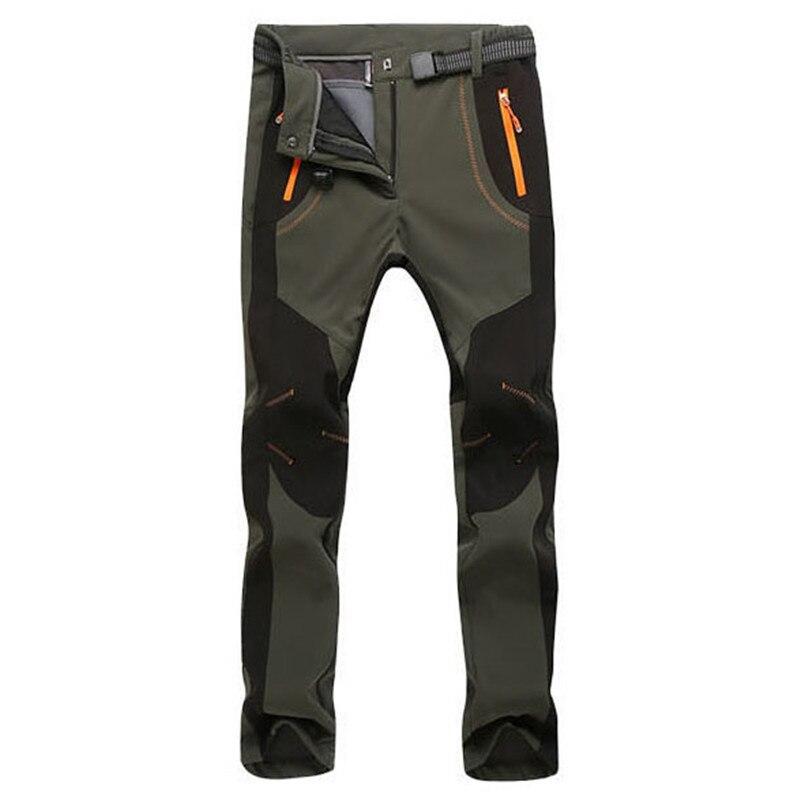 Winter Snow Stretch Thicken Pants Men Women Soft Shell Waterproof Windproof Thermal Trousers Tactical Fleece Warm Cargo Pants5XL