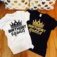 2019 harajuku camisetas de manga curta feminino engraçado camisetas de aniversário do casal da forma do amante da rainha do aniversário