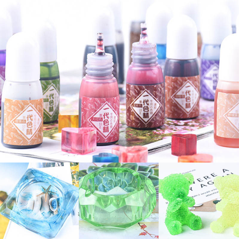 1 Pcs UV Resin Pigment Color Liquid Coloring Dye DIY Jewelry Making Crafts DIY Mold Making Accessories Candle Making Dyes