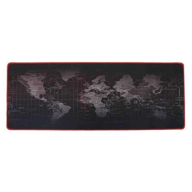 Tapete de mesa grande mouse mouse tapete de mesa mousepad de borracha do computador mapa do mundo jogo teclado