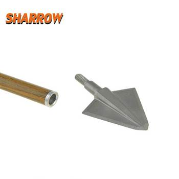 6Pcs New Quality 17-4PH Blade High-strength Integrated Structure Archery Broadheads 136 Grain Arrow Head Hunting Point Arrowhead