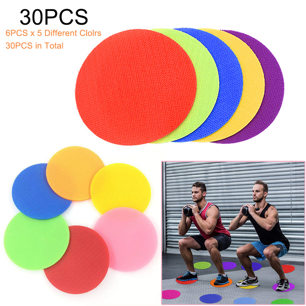 30PCS Carpet Spot Marker For Teacher Early Educational Classroom Sit Spots Carpet Markers Toy Gift For Child Teaching Tool