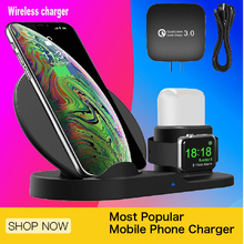 3 in 1 Wireless Charger Stand QI Charging Dock Station Replacement for Apple Watch  Desktop & Pad
