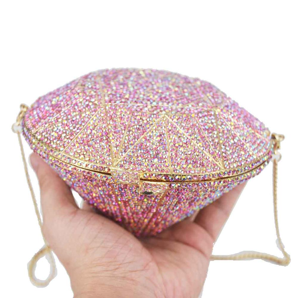 Coloré nouveauté femmes diamant forme cristal soirée sac à main paillettes Designer sacs célèbre bandoulière sacs sac à main