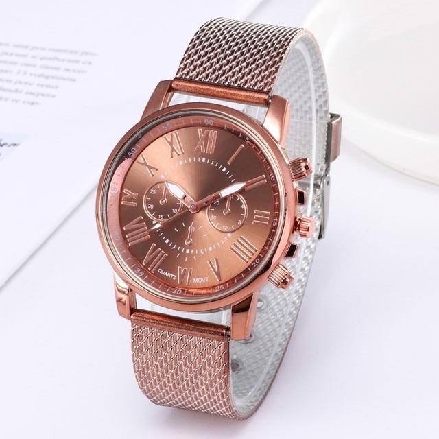 1PC Digital Women Casual Watch Quality Fashion Geneva Faux Leather Analog Quartz Ladies Watch Bracelet Clock Gift Fast Delivery
