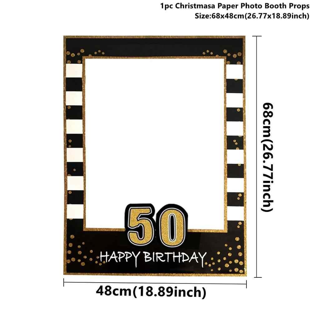 Taoup Gold 50 jednorazowe zastawy stołowe ręcznik płyta Tablecover kubki jednorazowe imprezowa zastawa stołowa 50. Urodziny dekory dla rodziców